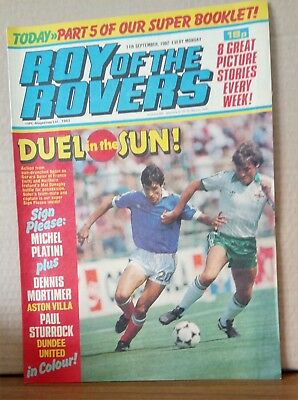 Roy of the Rovers Comic in very good condition dated 11th September 1982