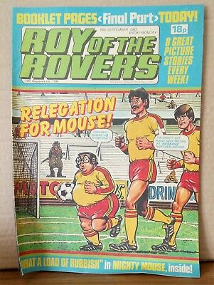 Roy of the Rovers Comic in very good condition dated 18th September 1982