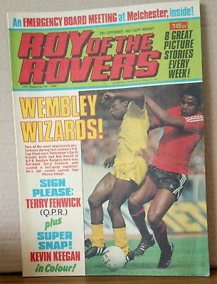 Roy of the Rovers Comic in very good condition dated 25th September 1982