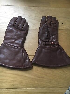 vintage leather motorcycle gloves Sheepskin Perfect
