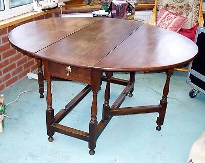Quality Period Country Drop Leaf Oak Dining Table  Extra Seating Price Reduction