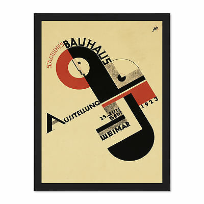 Exhibition Bauhaus Weimar Icon Germany Vintage Advertising Large Framed Print