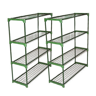 Pair Greenhouse Staging Shed Garage Storage Steel Shelving Shelves Racking Unit