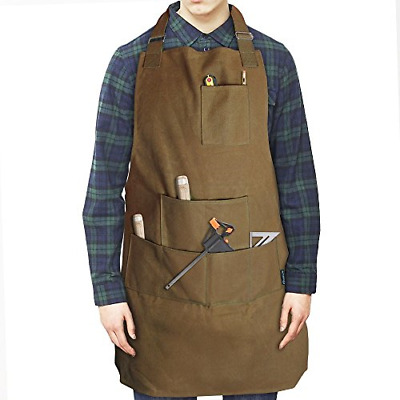Case4Life Heavy Duty Water Resistant Waxed Canvas Apron Tool Apron Workshop DIY