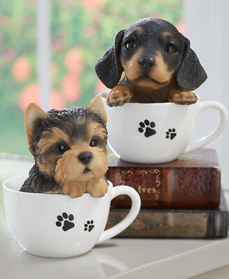 Collectible Dog Lover Teacup Pup Intricately Detailed & Lifelike 8 Breeds Avail.