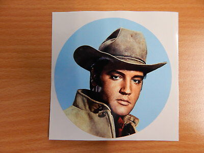 Elvis Werbeaufkleber Advertising Sticker LP Elvis Sings Flaming Star