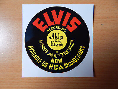 Elvis Werbeaufkleber advertising sticker LP Aloha From Hawaii