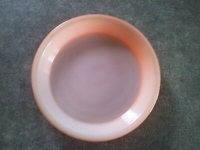 """Glasbake Coral Pink Pie Plate 9"""" Hard To Find"""