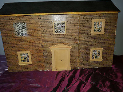 Wooden Dolls House (handcrafted) with Furniture