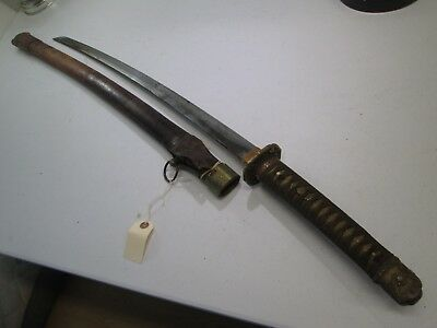 Wwii Japanese Officers Samurai Sword With Scabbard #w11