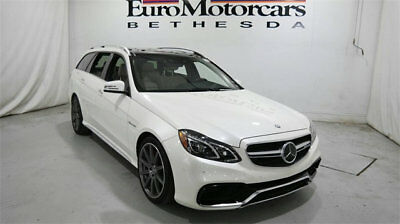 2014 Mercedes-Benz E-Class 4dr Wagon E 63 AMG 4MATIC mercedes benz e63 e class 63 amg 577hp wagon 4matic awd diamomd white