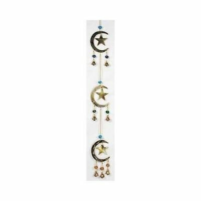 Stars and Moons wind chime Wiccan Pagan Witchcraft Home Decor