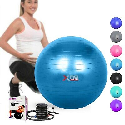 65CM Exercise Gym Yoga Swiss Ball Fitness Pregnancy Birthing Anti Burst pump