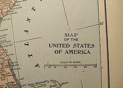 Map Of America 1900.Vintage 1900 United States Map 22 X14 Old Antique Usa North America