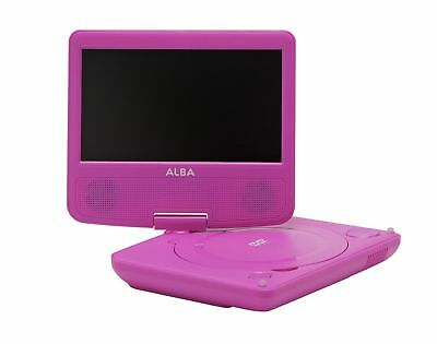 Alba 7 Inch Portable DVD Player - Pink - with remote control & in car charger