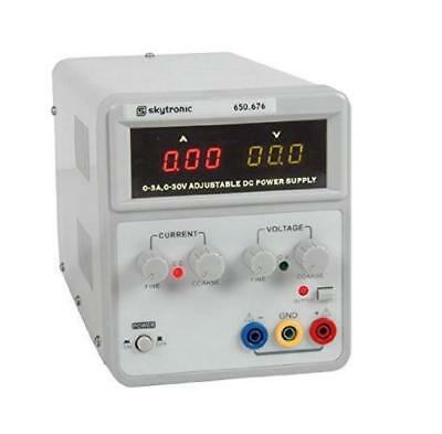 Regulated power supply with a variable output voltage 0 to 30V and current limit