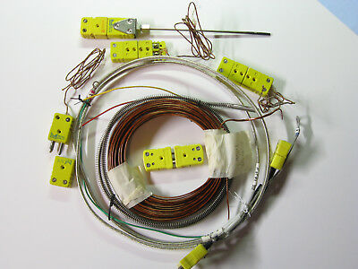 Type K Thermocouple Assortment Includes Connectors Kapton Insulated Wire Etc