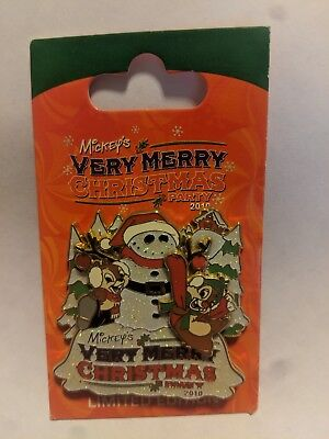 2010 Mickey's Very Merry Christmas Party Chip And Dale Disney Pin