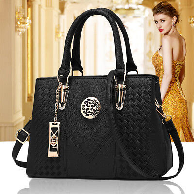 Fashion Women PU Leather Handbag Shoulder Bag Tote Satchel Casual Travel Bags