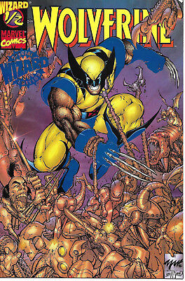 Wolverine #1/2 Marvel Wizard Special Edition Cover Blue Foil Cable w/CoA VF+