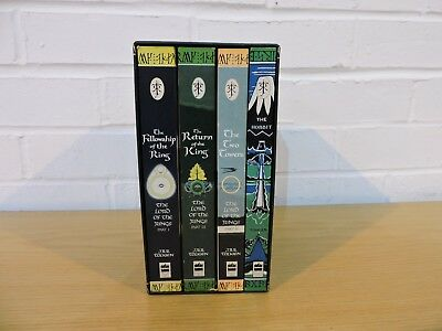 J.R.R.Tolkien 4 Book Box Set / The Hobbit and Lord of The Rings / Ted Smart 1997