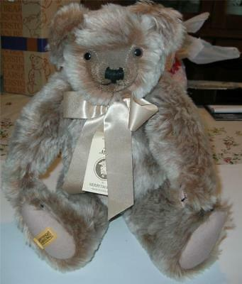 "MerryThought 20"" Teddy Bear MoHair Growler jointed signed"