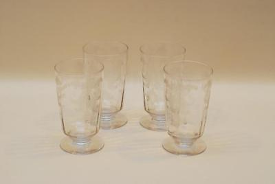 4 Tiffin BYZANTINE Straight Tumbler Tumblers 4 7/8 Inch