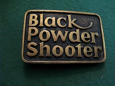 Vintage Black Powder Rifle Firearms Solid Brass Belt Buckle BTS Made in USA