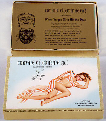 Rare Mint In Box Double Deck Alberto Vargas Pin-up Girls Playing Cards 1940s NR