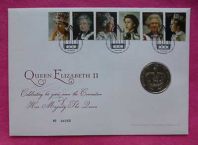 2013 Hm Queen Coronation 60Th Anniversary  Five Pound £5 Bu Coin   Fdc / Pnc