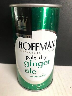 "RARE Vintage - Hoffman Ginger Ale Soda ""FLAT TOP""  (College Point,NY) Can"