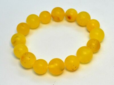 18.15gr. Natural Baltic Bracelet Amber Egg Yolk Graduated Natural Genuine Stone