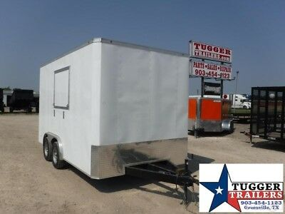 2019 T-Series 8.5 X 14 Enclosed Concession New Food Vending Trailer 8.5x14!