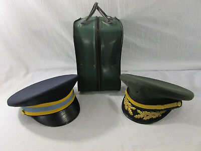 693d4f7c8b5 Lot of 2 Vintage Military Hats Flight Ace (Blue) and Luxenberg (Green)
