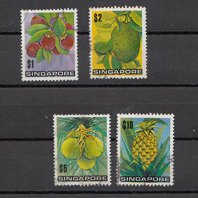 Singapore Tropical Fruits set of 4 fine Used SG 221-4 Cat value £15.50