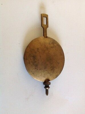 Antique Clock Pendulum 93g 48mm Diameter 85mm Long  Spare Part