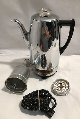 Vintage Universal Electric Coffeematic Percolator Coffee Pot Model 4458 Working