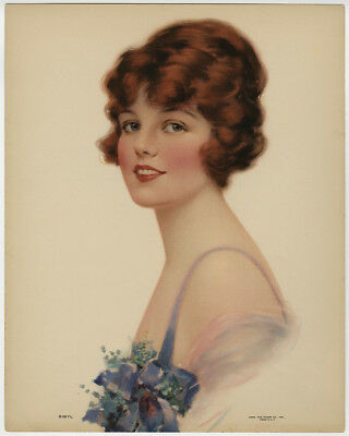 Rare Antique Early 20th Century Fine Art Nouveau Early Pre-Pin-Up Print Sibyl