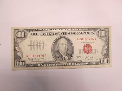 1966 Us $100 United States Red Note