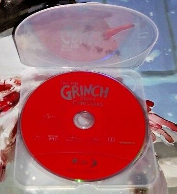 """Dr. Seuss """"How the Grinch Stole Christmas"""" BLU-RAY DISC ONLY NO CASE/ARTWORK"""