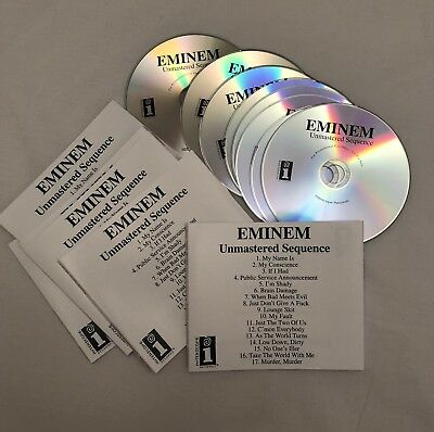 EMINEM Unmastered Sequence CDs Bundle 2017 + Collectors Re Issues Slim Shady EP