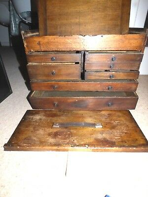 Moore & Wright 7 Draw & Top Box, Engineers Box, Collectors Chest (2)