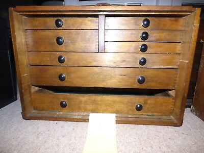 Moore & Wright 8 Draw Engineers Box, Collectors Chest (1)