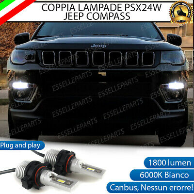 Coppia Luci Diurne Drl 21 Led Psx24W Canbus Jeep Compass Mk2 6000K 100% No Error