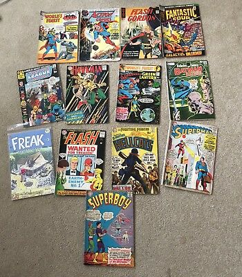 13 VTG 60s Comic Books Batman Superman R Crumb Hawkman Fantastic 4