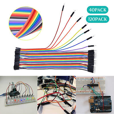 40x 120x 20cm Male To Female Dupont Wire Jumper Cable for Arduino Breadboard US