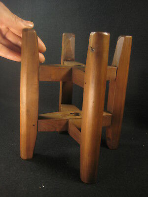 Antique Japanese 120 Year Old Signed Tool Wooden Silk Winder Spool