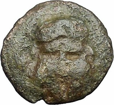 MESEMBRIA Thrace 400BC Crested CORINTHIAN Greek Helmet Ancient Coin i49759