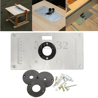 Aluminum Metal Sliver Router Table Insert Plate Insert Rings DIY Woodworking