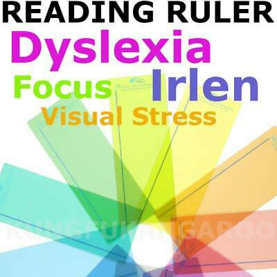 1 x Reading Aid Ruler Plain Eye Level Tinted Overlay Visual Stress Dyslexia Book
